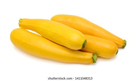 Fresh zucchini fruit isolated on white background