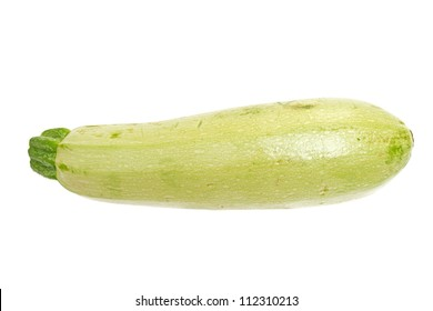 The fresh zucchini isolated on white background.