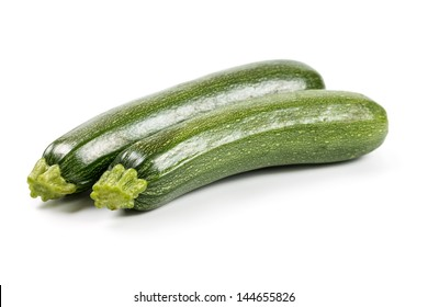 Fresh zucchini �¢??�¢??isolated on a white background.