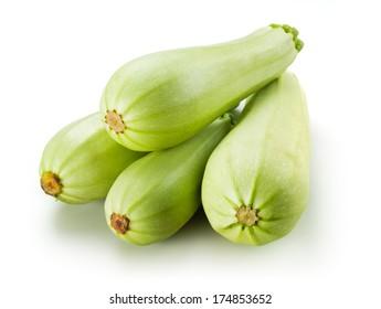 Fresh zucchini. Squash isolated on white background