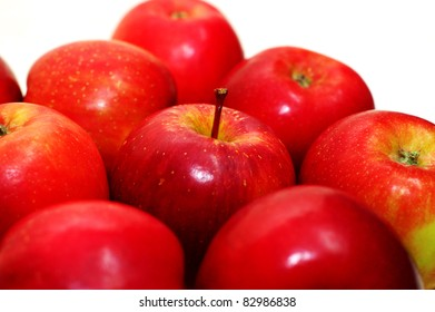 Freshly apple with white background