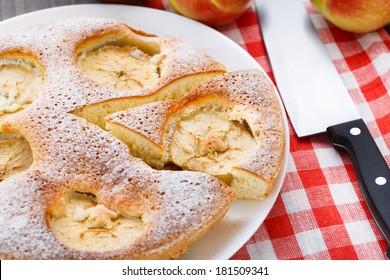 Freshly baked apple pie