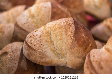 Freshly baked homemade bread loaf, shallow focus