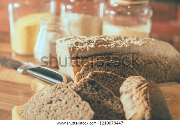 Freshly Baked Homemade Gluten Free Buckwheat Stock Photo