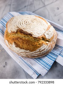 Freshly Baked Loaf of Bread Made from Einkorn Flour