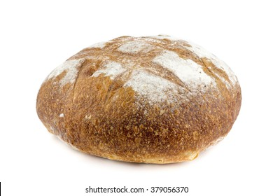 freshly baked loaf of Italian or French bread isolated on white background; great for panini sandwich or breakfast; food closeup;