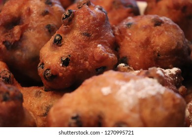 Freshly baked oliebollen, a dutch treat for New Year's Eve