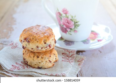 Freshly baked scones, tea time