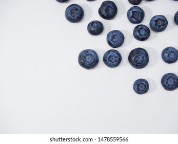 Freshly blueberry on white background. Berries watercolor image for healthy menu design. space for text