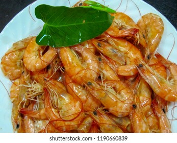 Freshly Boiled Shrimp In The Shell from the Philippines