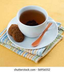 Freshly Brewed Black Tea with Cookies