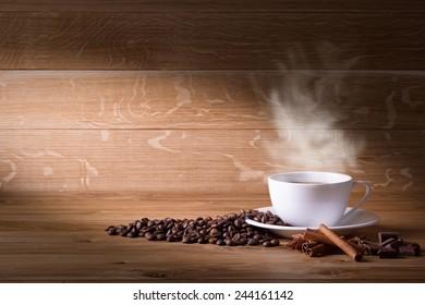 Freshly brewed coffee.