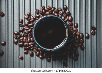 Freshly brewed cup of coffee to kickstart the day