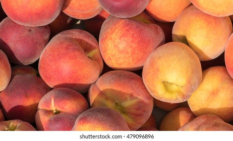 Freshly collected peaches
