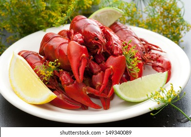 Freshly Cooked Crayfish