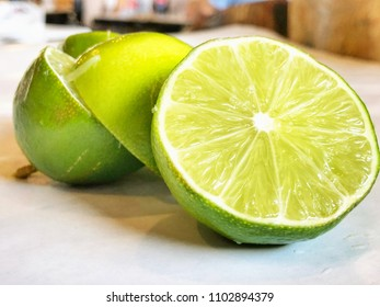 Freshly Cut  Limes