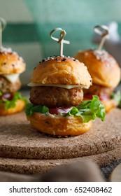 Freshly delicious hamburgers