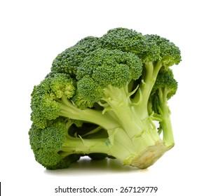 freshly green broccoli on white background