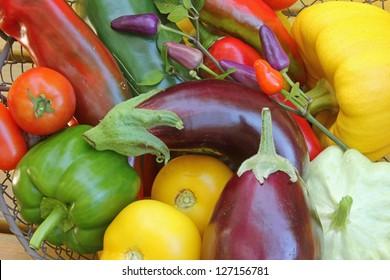 Freshly harvested Mediterranean vegetables