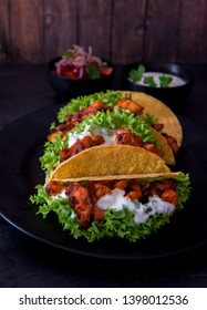 Freshly made delicious Tacos with chicken
