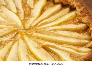 freshly made pear and puff pastry cake