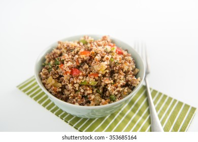 Freshly Made Quinoa and Vegetables Salad
