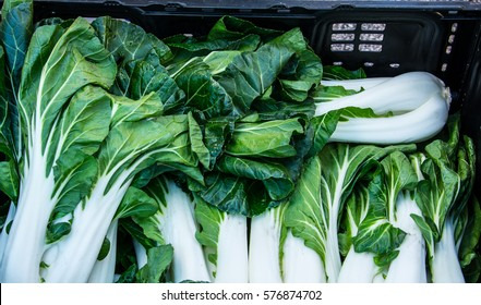 Freshly picked Bok Choy crated for market