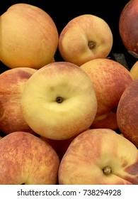 Freshly picked peaches.