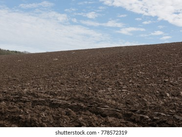 Freshly Ploughed Field on the South West Coast Path between Westwood Ho and Clovelly in Rural Devon, England, UK