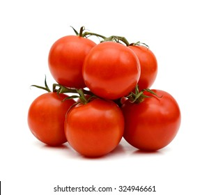 freshly red cocktail tomatoes isolated on white
