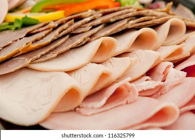 Freshly sliced mixed meat
