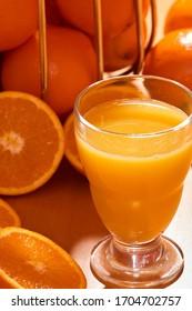 Freshly squeezed orange juice, healthy fruit