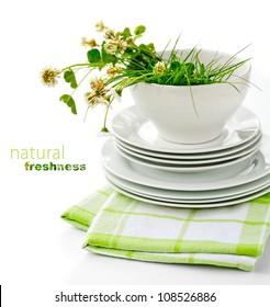 Freshly Washed Dishes