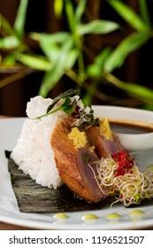 FreshTuna sashimi with rice
