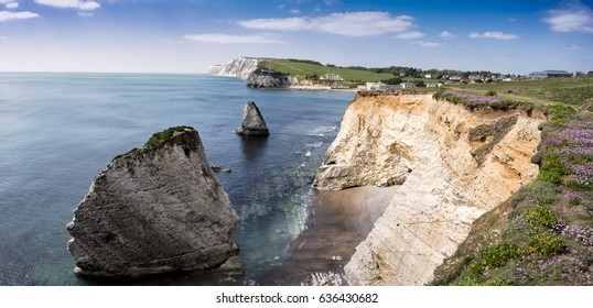 Freshwater Bay, Isle of Wight, on a late Spring day