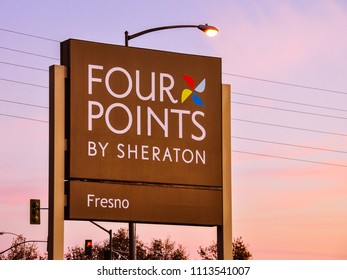 Fresno, CA/USA - Nov. 9, 2011: Sign, Four Points Hotel by Sheraton in Fresno, CA.
