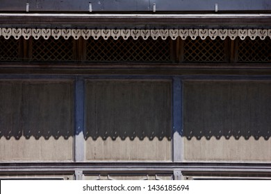 Fretwork on the house eaves