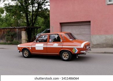 Frickenhausen, Germany - May 19, 2019: Renault 12 TS french oldtimer car at the 25. International Oldtimer-Rallye event.