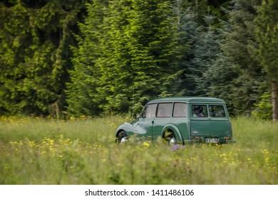 Frickenhausen, Germany - May 19, 2019: Auto Union DKW 3-6 oldtimer car at the 25. International Oldtimer-Rallye event.