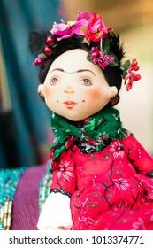 Frida Kahlo Folk Art Doll