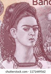 Frida Kahlo, a portrait from Mexican money