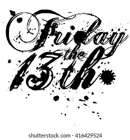 Friday the 13th type design.