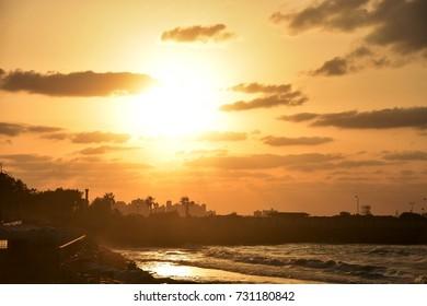 Friday 22 Sep, 2017, Alexandria, Egypt - Beautiful sea side view of Alexandria, Egypt 2017
