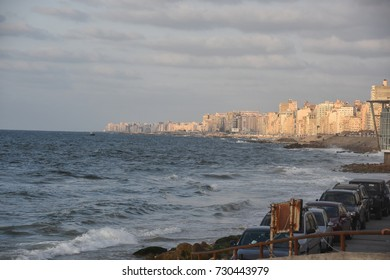 Friday, 22 September, 2017, Alexandria, Egypt. Beautiful View of Alexandria, Egypt - 2017