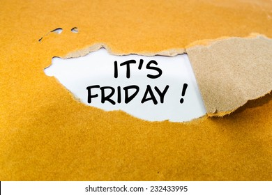 It's Friday concept on brown envelope