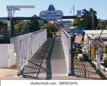 Friday Harbor, Washington,USA - September 7, 2011: Port Marina San Juan Island