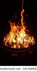 Friday night firepit fire Slocum, Texas