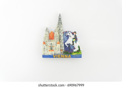 Fridge Magnet Isolated on White - Vienna Souvenirs