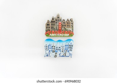 Fridge Magnet Isolated on White - Amsterdam souvenirs