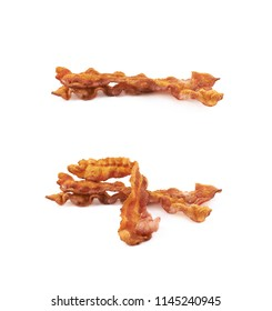 Fried bacon composition isolated